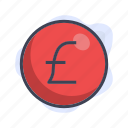 business, finance, money, pounds icon