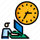 business, date, schedule, time, work icon