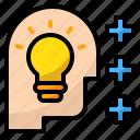 bright, development, idea, lighting, smart icon