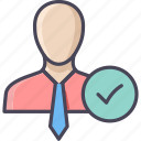 account, business, employee, person, profile, selected, user icon