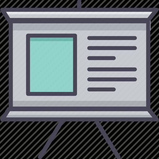 analysis, analytics, board, diagram, presentation, report, review icon