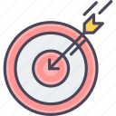 aim, dartboard, focus, goal, shoot, shooting, target icon