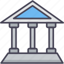 bank, building, business, financial institution, house, stock, treasury icon