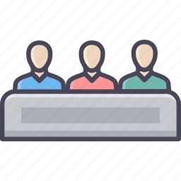 business, discussion, group, meeting, network, social, team icon