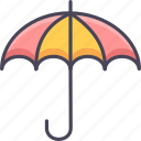 investment, pension, plan, planning, project, retirement, umbrella icon