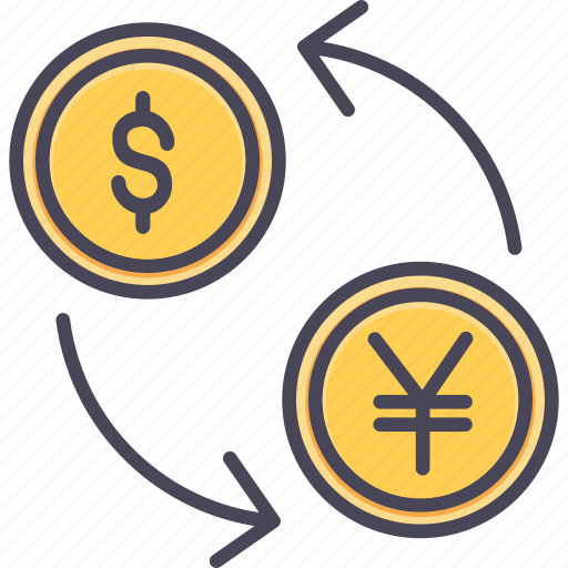 conversion, convert, currency, dollar, money, transfer, yen icon