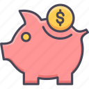 bank, banking, cash, money, piggy bank, saving, savings icon