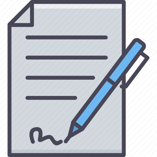 agreement, paper, pen, sheet, sign, signature icon