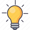 bulb, electric, energy, idea, innovation, lightbulb, power icon