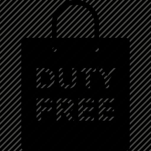 bag, duty, duty-free, free, shop, shopping, store icon