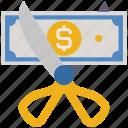 business, cut, finance, money, scissor, tax