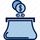 business, cash, coins, finance, money, payment, purse icon