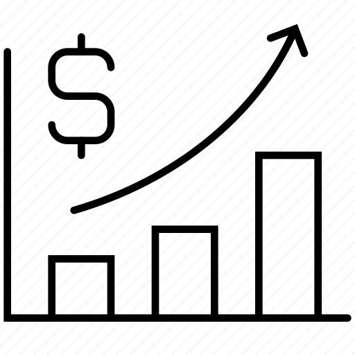 analytics, chart, diagram, graph, growth, money, statistics icon