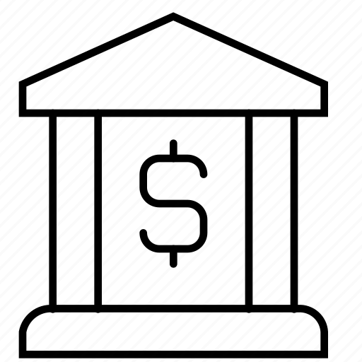 bank, banking, building, business and finance, dollar, money, saving icon