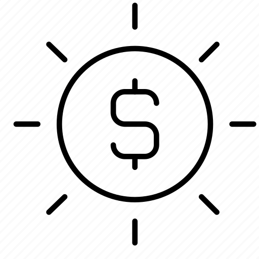 business, cash, coin, currency, money, payment, starburst icon