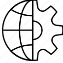 business, currency, dollar, finance, marketing, money, settings icon