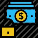 business, business & finance, cash lock, dollar, money, secure icon