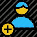 business, business & finance, businessman, person, plus, user icon