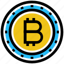 bit coin, bitcoin, business, business & finance, coin, money icon
