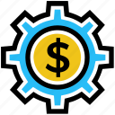 business, business & finance, cogwheel, dollar, gear, setting