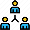 business, business & finance, connection, networking, sharing, users icon