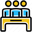 business, business & finance, employee, office, table, users icon