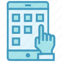 business, business & finance, click, functions, mobile, mobile apps icon