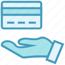 atm card, business, business & finance, hand, payment, transaction icon