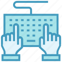 business, business & finance, hands, keyboard, office, typing icon