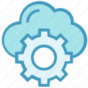 business, business & finance, cloud, cogwheel, gear, setting