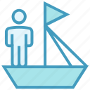 boat, business, businessman, people business & finance, user icon
