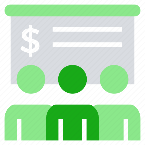 board, business, business & finance, dollar sign, lecture, office icon