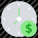 business, business & finance, clock, dollar, money, time