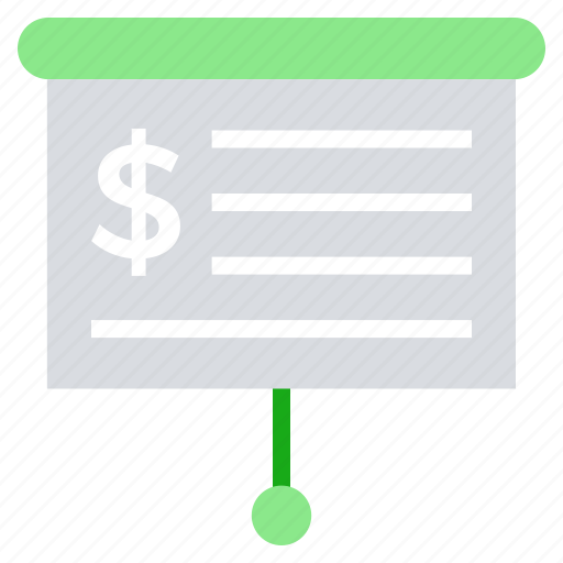 board, business, business & finance, dollar sign, office, strategy icon