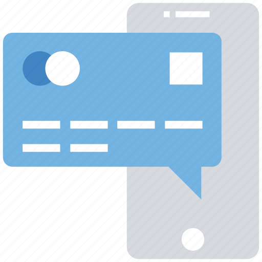 atm card, business, credit card, finance, mobile, mobile banking, mobile payment icon