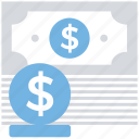 banknote, business, coin, currency, dollar, finance, payment