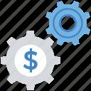 business, change, coin, dollar, finance, gear, settings