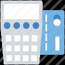 billing, business, card, card swipe, finance, machine, swipe icon
