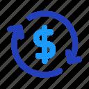 business, dollar, exchange, finance, money icon