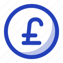 business, coin, currency, finance, money, poundsterling icon