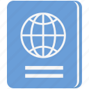 citizen, documents, passport, travel, visa icon