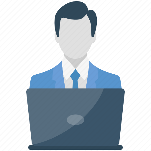 accountant, business man, employ, male, manager, user icon