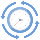 clock, hour, schedule, time, time process icon