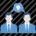 brainstorming, business relation, idea, partner, partnership, teamwork
