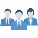 business team, group, human, people, team, team leader icon