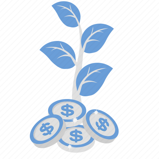 business growth, development, dollar growth, expansion, increase icon