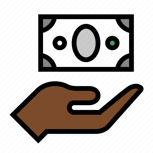alms, beggar, cash, charity, donation, payment icon