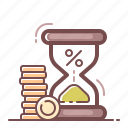 business, deposit, money, time icon