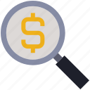 Business Finance Find Money Rupee Search Icon