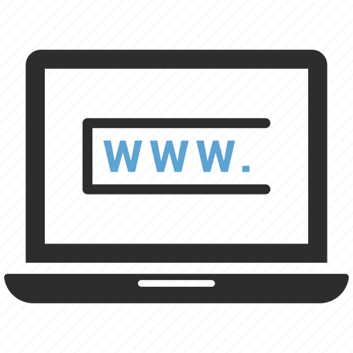 computer, laptop, macbook, notebook, ultrabook, www. icon